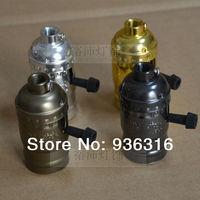 Free shipping 6pcs/lot pendant light lamp holder E27/E26 LAMP bases Rotary Switches  4 color