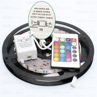 led strip 5050 IP20 non-waterproof flexible strip 5m/roll 300leds 24 Keys remote controller power supply adaptor free shipping