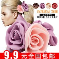 3385 hair accessory ribbon silk yarn hair band hair accessory rose fabric headband hair rope tousheng rubber band