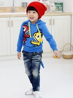 FREE SHIPPING 1 PIECE NEW FASHION BOYS DINOSAUR MONSTER HOODIE JUMPER TOP with HOOD / DETACHABLE TAIL 2-6YEARS CHILDREN
