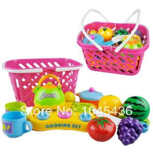 Free shipping Set toy fruit qieqie see fruit basket baby(China (Mainland))