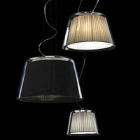 Lanting fabric pendant light glass modern brief living room lights lighting study light bedroom lamps