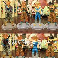 New 2014 japan anime Dragon ball Z action figures Vegeta, Goku, Trunks Super saiyan 4 pcs/lot Transparent collectible figurines