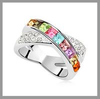 100% Austria Crystal Platinum Plated Ring