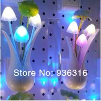 Free shipping 8pcs/lot New arrival mushroom bonsai colorful small night light bed-lighting teethe eye-lantern led sensor light