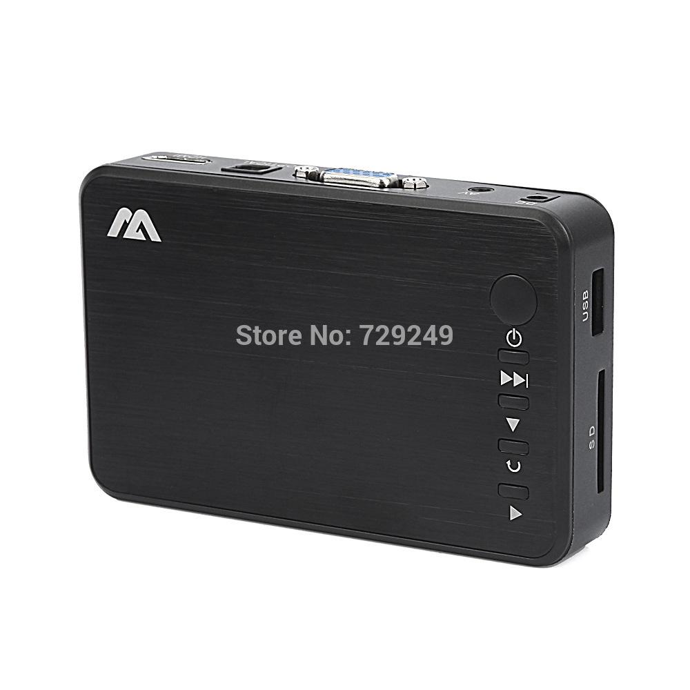 New Full HD 1080P USB External HDD Media Player with HDMI VGA SD Support MKV H.264 RMVB WMV Aluminum Shell(China (Mainland))