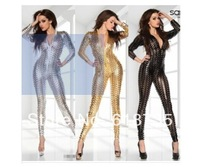 Free shipping new  leather sexy jumpsuit lingerie,sexy rihanna DS dancing wear Cheap hot CXWC-8244