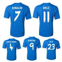 Real madrid away jersey Bale 11 Ronaldo 7 Grade Original thailand quality soccer jersey soccer shirt football jersey