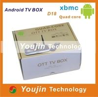 preinstall XBMC android tv box quad core