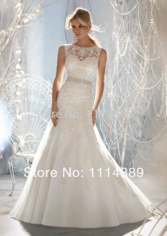 2014 offerta speciale dettagli sulla nuova spedizione gratis bianco/abito da sposa in pizzo avorio abiti da sposa 4-6-8-10-12-14-16-18 formato personalizzato