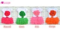 Free Shipping 1piece/lot 2014 New summer flower girls dress baby dress princess kid dress Children clothing
