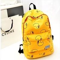 Cartoon school bag little duck backpack small fresh preppy style canvas school bag women's handbag