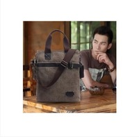 Bag bag trend handbag cowhide canvas bag casual bag shoulder bag messenger bag man bag vertical section