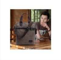 Bag bag trend handbag cowhide canvas bag casual bag shoulder bag messenger bag man bag vertical section