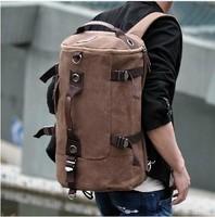 2014 travel bag Free shipping,Men's male Vintage cotton canvas backpack,Rucksack school bag Satchel Hiking bag,handbag B1022