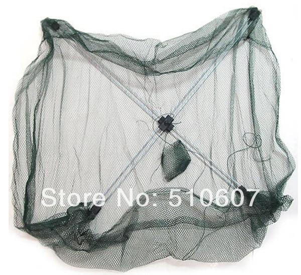 1pcs Durable Nylon Eels Shrimp Crab Trap Cast Steel Wire Frame Umbrella Fishing Net(China (Mainland))