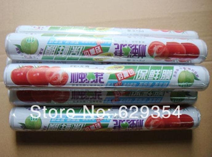 "New Plastic Stretch Wrap Cling Film 11.8"" Wide 120' Long 30cm*4000cm(China (Mainland))"