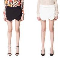 2014 New Arrival Fashion High Quality Elegant Asymmetrical Geometric Shape Shorts Slim Vogue Stylish Casual Shorts Free Shipping