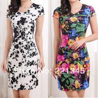2014 spring slim one-piece dress plus size clothing vintage summer one-piece dress