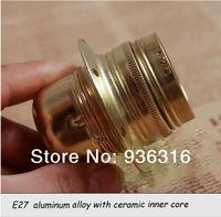 Free shipping 10pcs/lot pendant light lamp holder E27/E26 LAMP bases Imitation copper lamp