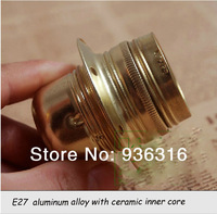 Free shipping 10pcs/lot pendant light lamp holder E27/E26 LAMP bases Imitation copper lamp