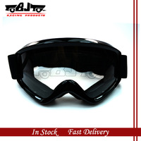 BJ-MG-015 Black Color Adult Motorcycle Protective Gears Clear Lens  Flexible Cross Country  helmet Motocross Goggles Glasses MX