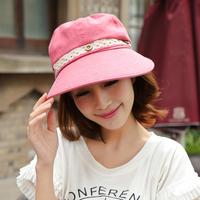 Fashion Womens  Cap Summer Beach Sun  Panama Hat Wide Large Brim Sun hat Cap with big bow