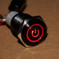 Black case 12V 16mm Red Symbol&Angel Eye LED 12V Push Button Metal ON/off switch