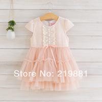 2014 kids lace dress, summer dress kids, 5pcs/lot   LXJ06