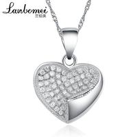 Silver heart pendant 925 pure silver necklace female long design love pendant anti-allergic accessories