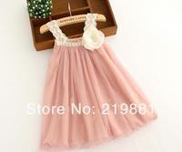 Kids summer sweet  lace dress , dresses baby girl, 6pcs/lot   CFZ04