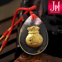 Jpf gold lucky bag 999 fine gold pendant gold pendant male Women new arrival