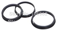 66.6-57.1mm 4 pcs/lot Black Plastic Wheel Hub Centric Rings Custom Sizes Available Retail & Wholesale China Post Free Shipping
