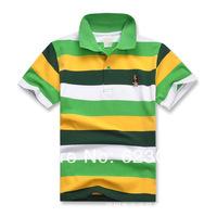 HOT!Free shipping wholesale children's  clothing, boys color short T-shirt,80-130cm,6pcs/lot,