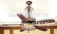 European antique  fan light 60-inch fan Mediterranean fan lights luxury crystal chandelier lamp H800 fan