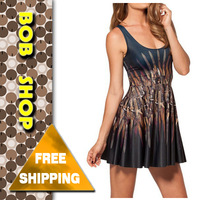 Bob shop ,DR0422,new 2014 spring summer ladies print design dress dresses women clothing sexy