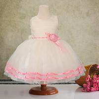 Flower girl dress birthday princess flower girl dress formal dress child wedding dress female child dress white tulle dress