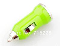 Usb mini car charger cigarette lighter car mobile phone charger bullet car charger multicolor Wholesale 50pcs