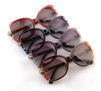 New Fashion Womens Glasses Big Lens Polarized Sunglasses,Ladies Gradient Polarized Sunglasses+Free Case