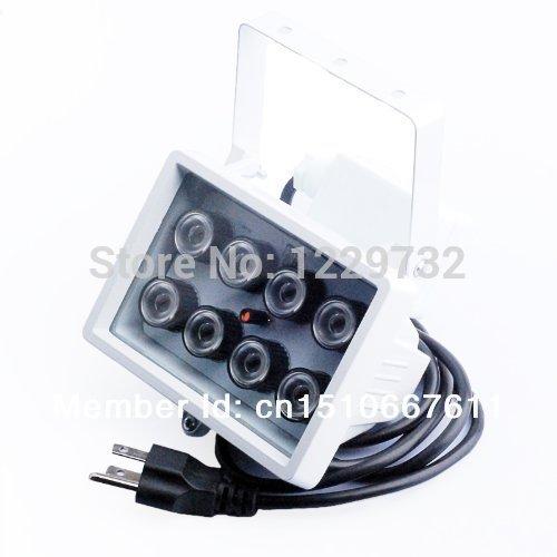 AC 110V~220V 8 LED Night vision IR Infrared Illuminator Light CCTV Camera 80m(262 FT) 60 Degree Angle Visual Range(China (Mainland))