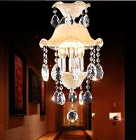 Free Shipping 2014 New Led fashion pendant light crystal lamp small entranceway aisle lights ofhead pendant light