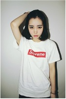 2014 new loose big yards short sleeve T-shirt round neck letters