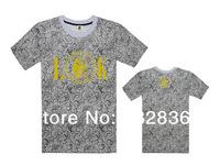 Last Kings leopard T shirts 2014 mens hip hop fashion T-shirt short sleeve brand t shirt men clothing summer cotton size S-XXXL