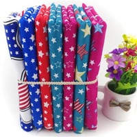 2014 New 7pcs 40cm*50cm 100% cotton patchwork fabric colorful stars printed home textile baby cloth material for sewing ZJ