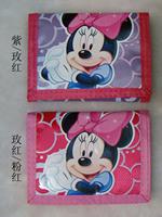 50 cartoon three fold wallet mini coin purse bulk of money bag child cartoon card holder