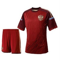 2014 World Cup Polyester  RU national team soccer jersey home jersey dress suit. Free shipping