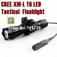 UltraFire 501B 5-Mode Cree XM-L T6 LED Tactical Flashlight Torch lamp hunting cree led Torch with Tactical mount/Pressure Switch