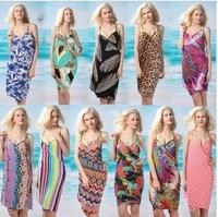 2014 New Summer Beach Dress Women Sexy Chic Hot Sale Lace Loose Sleeveless Girls Long Dresses Condole Belt Shirt For Women 19