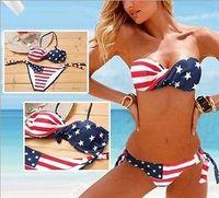 New Women/Ladies Sexy American Flag BikiNi Swimwear Bathing Suit