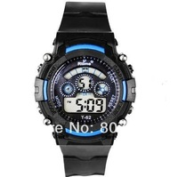 NEW 7 Colorful Luminous Men Sports Watch Student Shock Waterproof 30M Wristwatches Digital Multifunctional Military LED Watches
